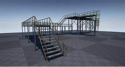 Platform 3d Industrial Modular Pbr Models Cgtrader