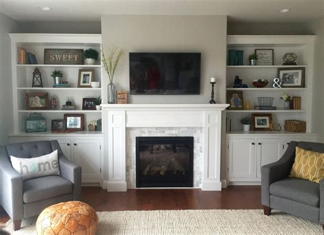 Living Room With Fireplace And Bookshelves by How To Build A Built In The Cabinets Woodworking
