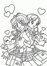 Coloring Pages Printable Pretty Manga Anime sketch template