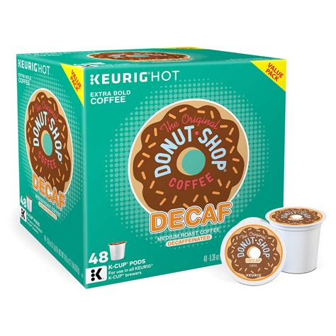 Decaf coffee is safer to drink, especially for those who tend to drink multiple cups of coffee every day. The Original Donut Shop Decaf Coffee Value Pack Keurig K-Cup Pods 48-C | MrOrganic Store