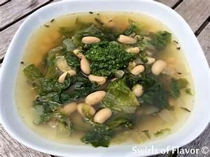 White Bean & Escarole Soup - Swirls of Flavor