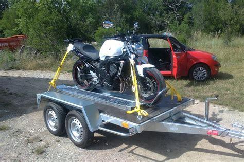 remorque porte moto feu vert pas cher 123 remorque