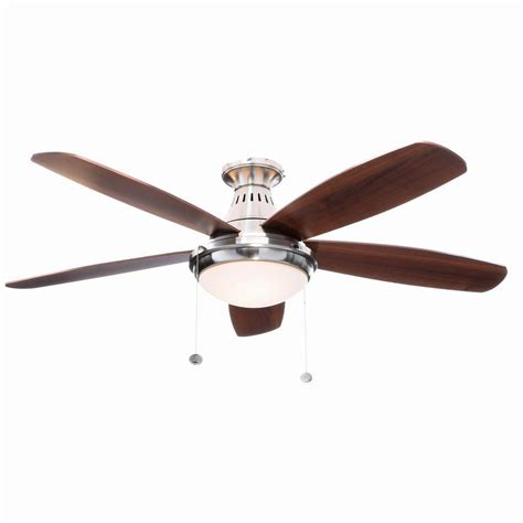 Wobbly Ceiling Fan 2 by Hton Bay Burgess 52 In Brushed Nickel Flushmount