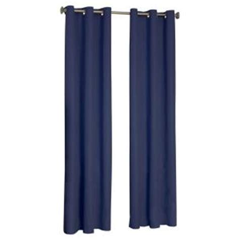 eclipse blackout curtains navy eclipse microfiber blackout navy grommet curtain panel 84