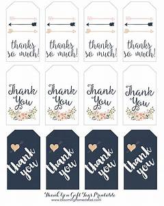 thank you gift tags blooming homestead With free printable thank you tags template