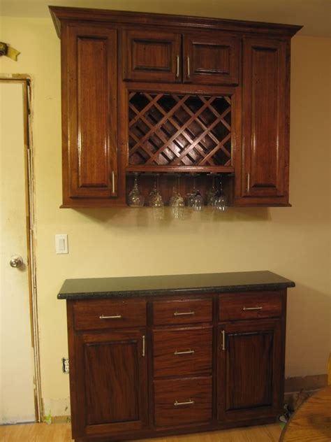 hand  wine rack cabinet  cross cut construction