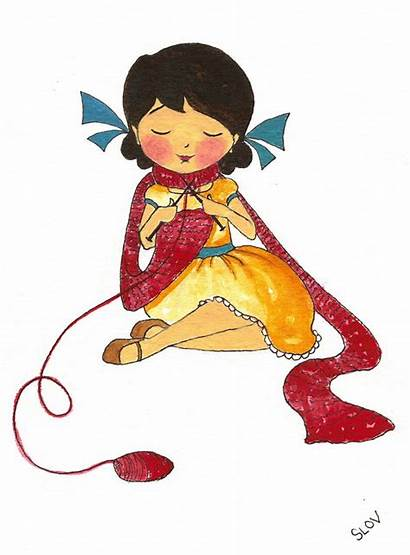 Knitting Illustrations Crochet Children Illustration Sewing Knitter