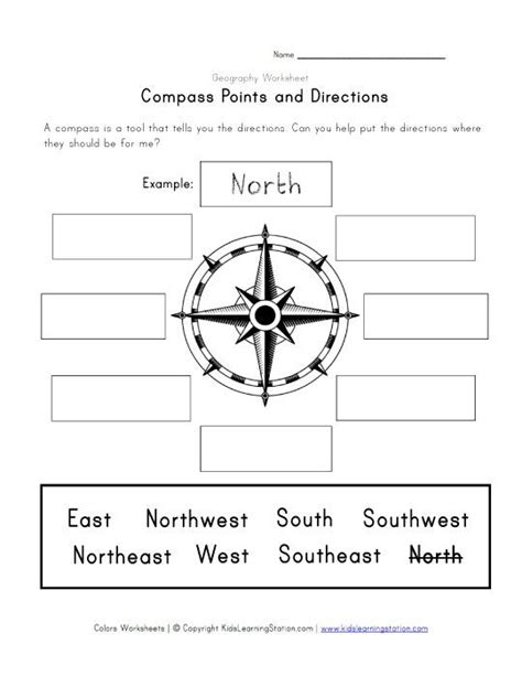 compass and directions worksheet learning stuff school worksheets compass worksheets