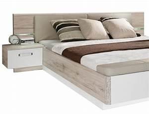 Doppelbett 180x200 Weiß : doppelbett rubio 1 sandeiche wei hochglanz 180x200 bett mit 2x nako wohnbereiche schlafzimmer ~ Frokenaadalensverden.com Haus und Dekorationen