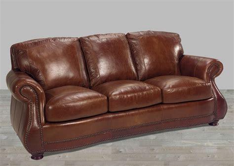 leather sofa  top grain alligator embossing brandy