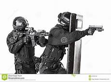 SWAT Officers With Ballistic Shield Stock Photo Image of