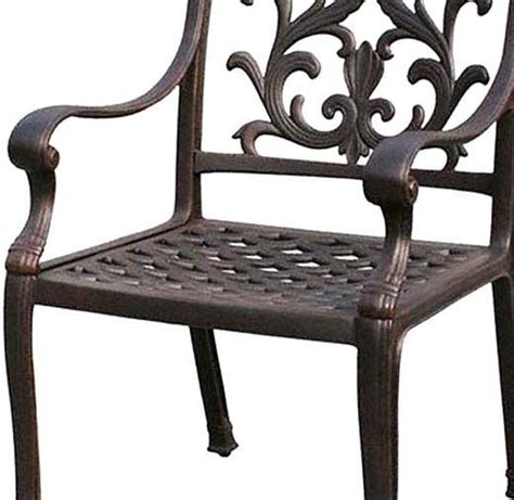 patio dining chair outdoor cast aluminum and 22 similar items