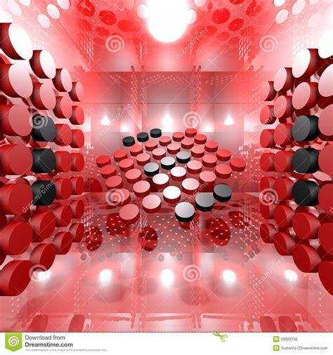 red digital interior room stock photo image