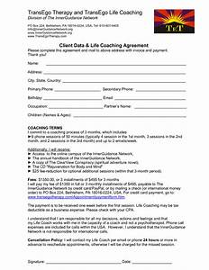 8 best images of executive coaching agreement template With free life coaching templates