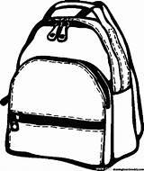 Backpack Coloring Backpacks Drawingboardweekly Guardado Desde Rucksack sketch template