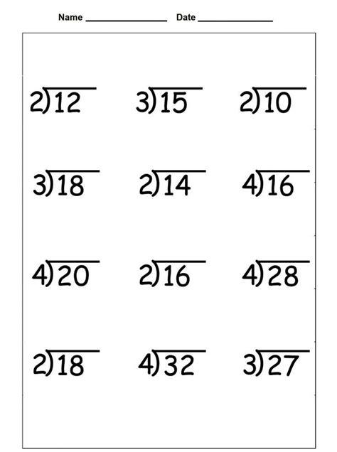 grade division worksheets math division worksheets