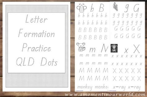 letter formation practice  moment   world