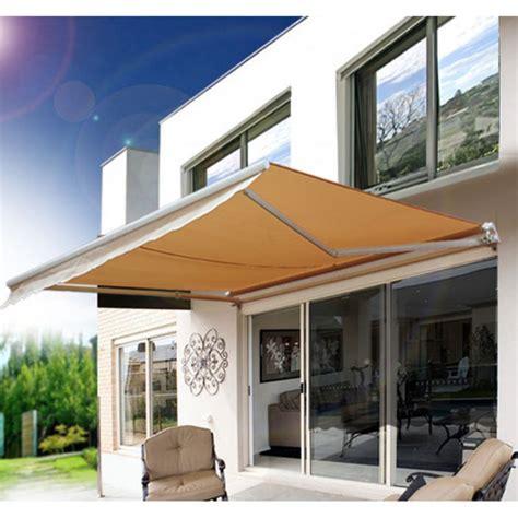outsunny    ft manual retractable sun shade patio awning walmartcom
