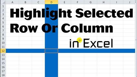 excel vba tips  tricks  highlight selected row