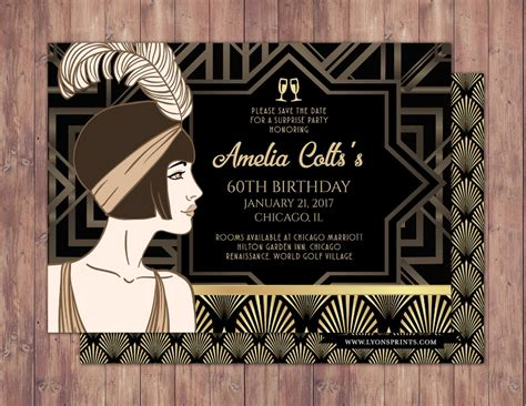 great gatsby invitation designs examples  psd