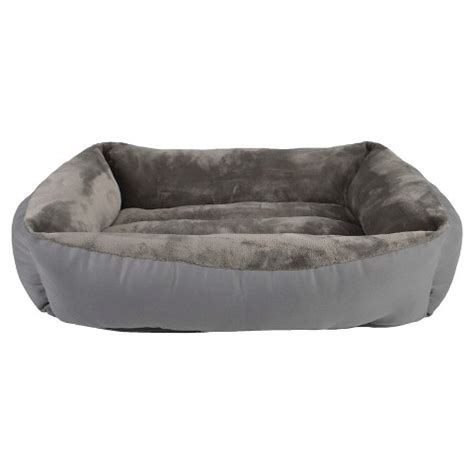 boots and barkley bed boots barkley rectangular cuddler pet bed radiant gray m