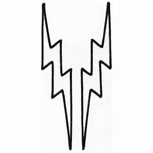 Lightning Bolt Black And White Clipart - Clipart Suggest