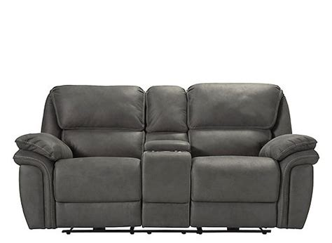 what is a loveseat microfiber power reclining console loveseat gray