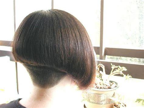 clippered nape bob haircut clippered nape bob bob
