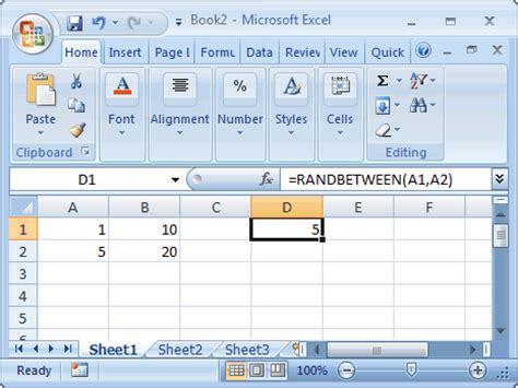 ms excel     randbetween function ws