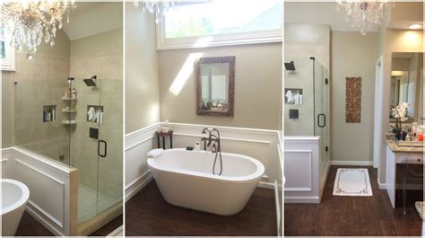 Master Bathroom Redo & Tour  Youtube. Wall Mounted Microwave. White Medicine Cabinet With Mirror. Small White Kitchens. Gray Blue Paint. Cylinder Pendant Light. Copper Side Table. Green Shutters. Design Bathroom
