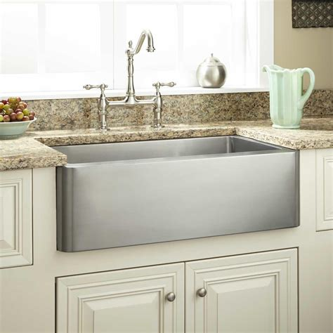 Dark Grey Stainless Apron Front Kitchen Sink With White