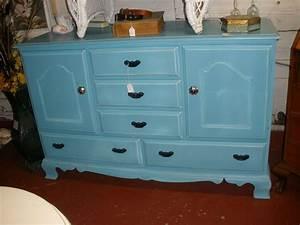 Blue, Buffet, Cabinet