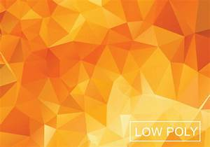 Orange Geometric Low Poly Vector Background - Download ...