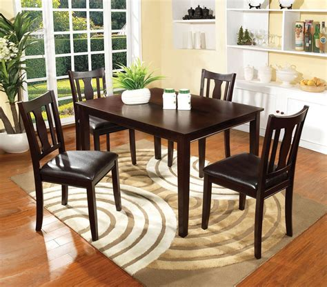 dining room pc dining set espresso dining table padded
