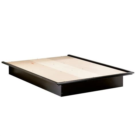 1854 south shore platform bed south shore cosmos black modern platform bed 307023x