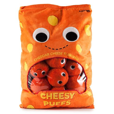 xl cuisine xl cheesy puffs food plush kidrobot