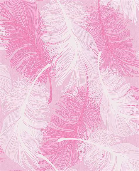 Coloroll Feather Powder Pink Wallpaper