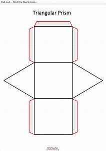 Free coloring pages of triangular prism net