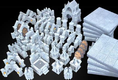 3d dungeon tile molds dungeon arena building
