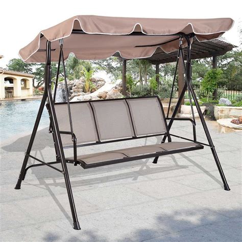 Patio Swing by The 16 Best 3 Person Canopy Swings Available On