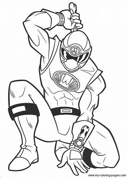 Coloring Pages Rangers Power Printable Craft Related