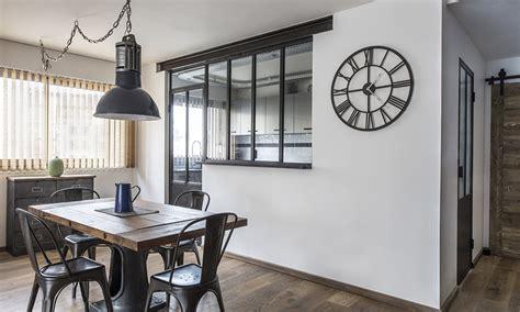 porte coulissante separation cuisine verrière cuisine avec fenêtre ouvrants steel in box