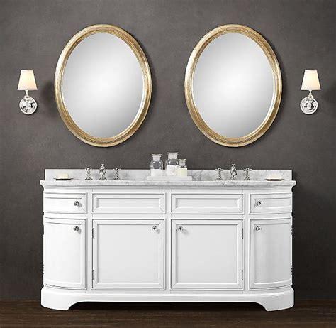 odeon double vanity sink odeon restoration hardware