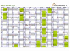 Ferien Hessen 2015 Ferienkalender zum Ausdrucken