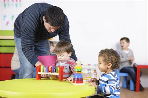 preschool requirements 393 | 1280 184335308 carer childminder supports toddler during playtime in a nursery setting