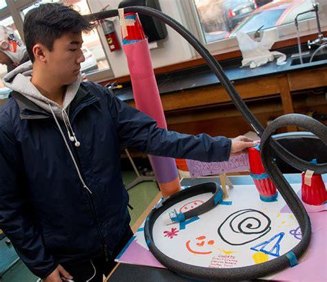 roller coaster design engineering physics bishop odowd high school