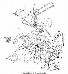 Mtd 13ao678h054  1998  Parts Diagram For Deck Assembly