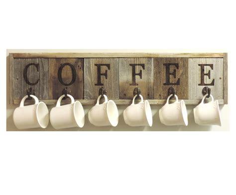 This really neat coffee mug rack would be great in any kitchen! Barnwood Coffee Mug Rack Wall-Mount Coffee Cup Holder ⋆ AllBarnWood