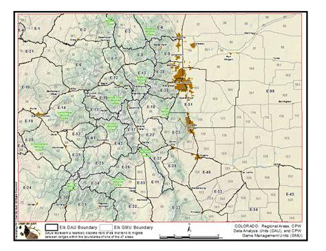 elk hunting gmu colorado map unit game statistics maps hunt boundaries management cpw dau