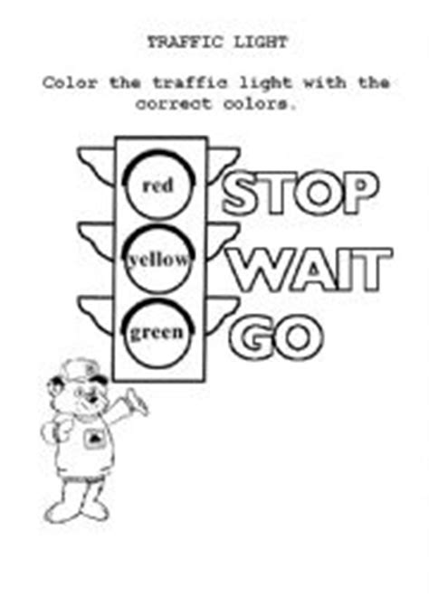 worksheets traffic light